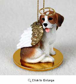 Beagle Christmas Ornament Angel