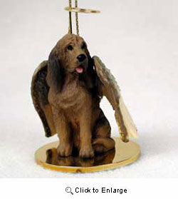 Bloodhound Christmas Ornament Angel