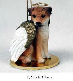 Border Terrier Christmas Ornament Angel