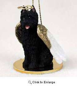 Bouvier des Flandres Christmas Ornament Angel