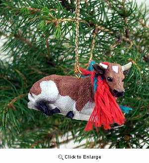 Guernesey Bull Tiny One Christmas Ornament