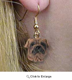 Shar Pei Authentic Earrings