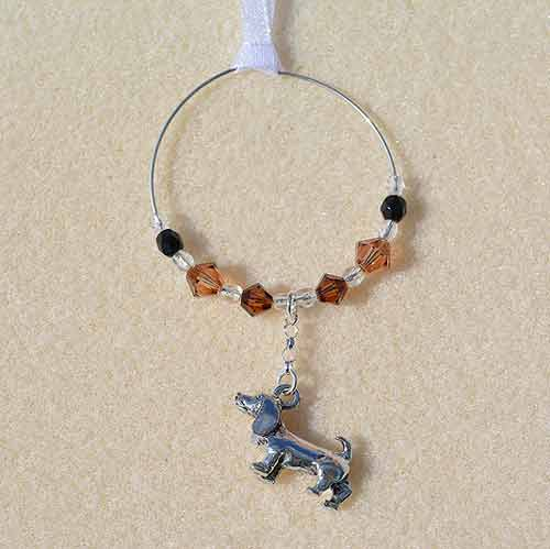 Dachshund Car Charm - Sun Catcher