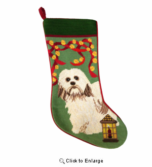 Havanese Christmas Stocking
