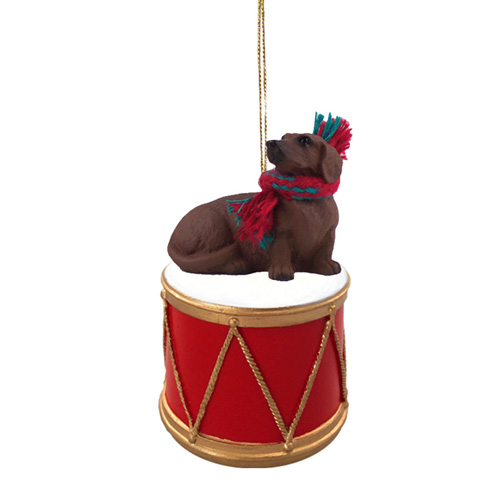 Little Drummer Red Dachshund Christmas Ornament
