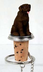 Labrador Retriever Chocolate Bottle Stopper