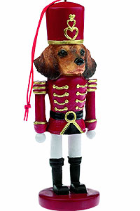 Dachshund Ornament Nutcracker (Red)