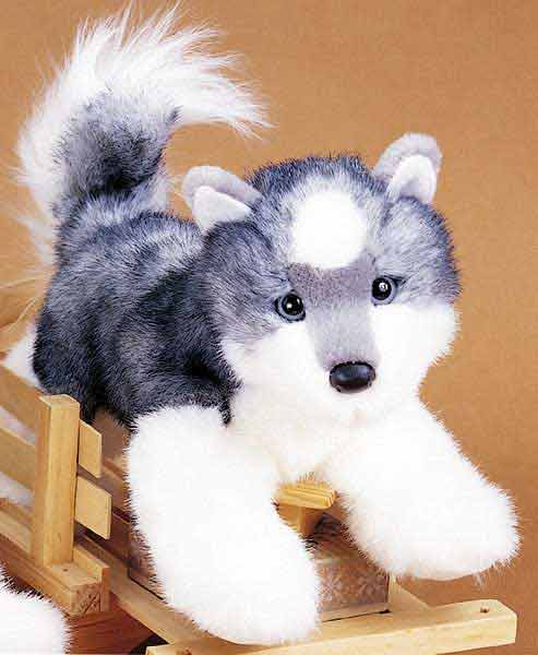 Siberian Husky Plush Stuffed Animal 12 Inch