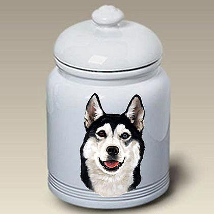 Siberian Husky Treat Jar