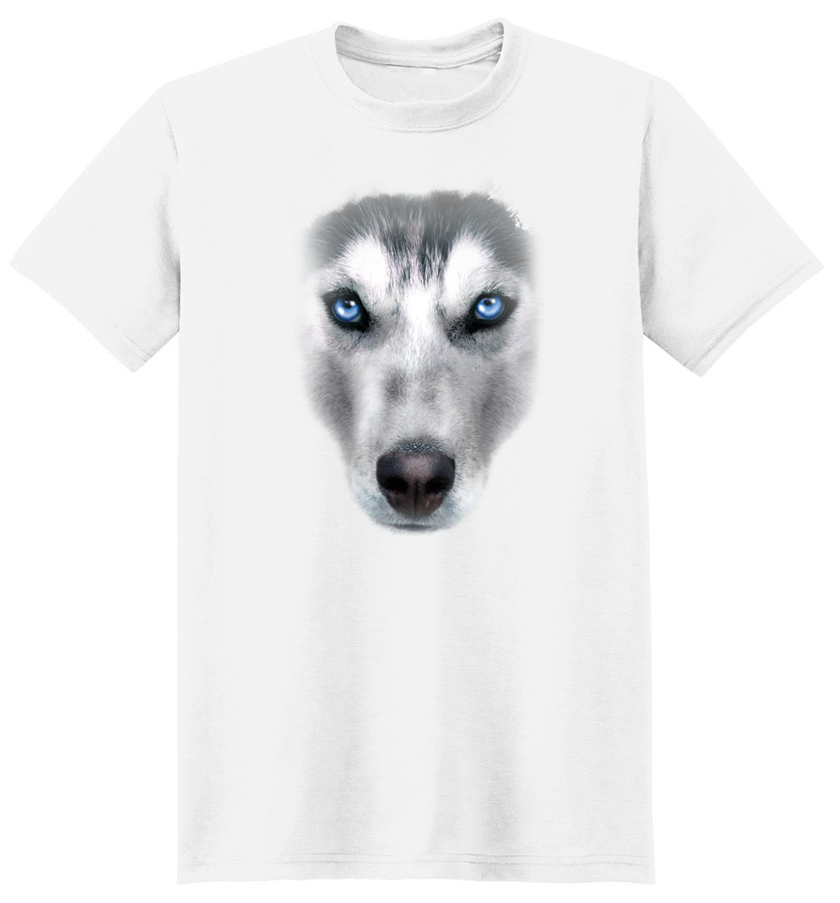 Siberian Husky T Shirt Full Face