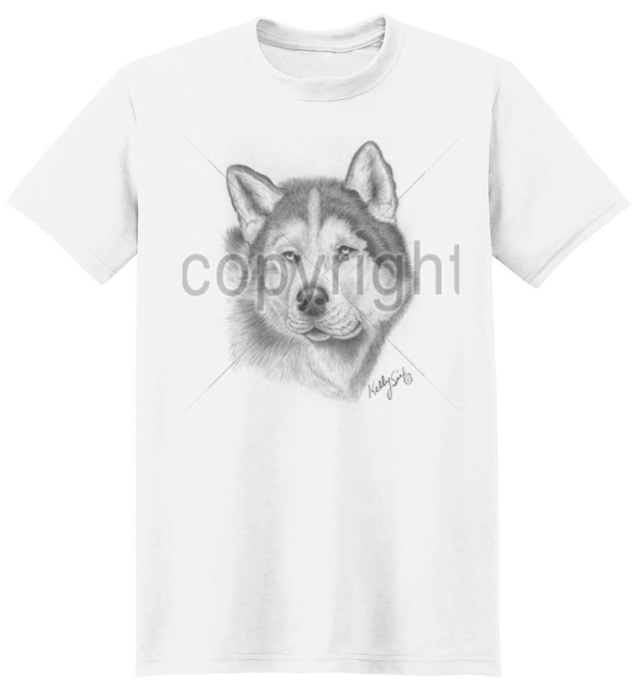 Siberian Husky T Shirt by Kelly Six