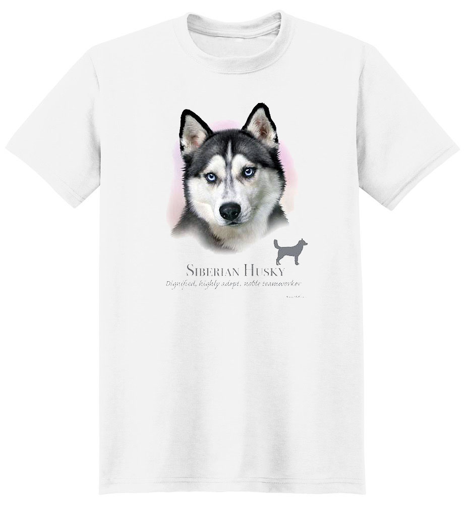 Husky T Shirt by Howard Robinson