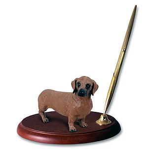Dachshund Pen Holder (Red)