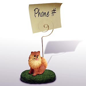 Pomeranian Note Holder (Red)