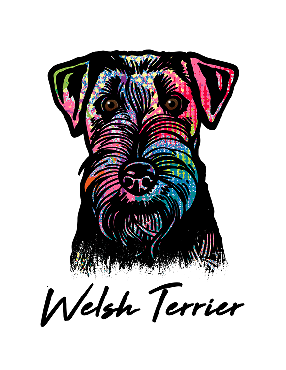 Welsh Terrier T Shirt Colorful Abstract