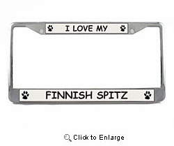 Finnish Spitz License Plate Frame