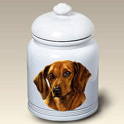 Red Dachshund Treat Jar