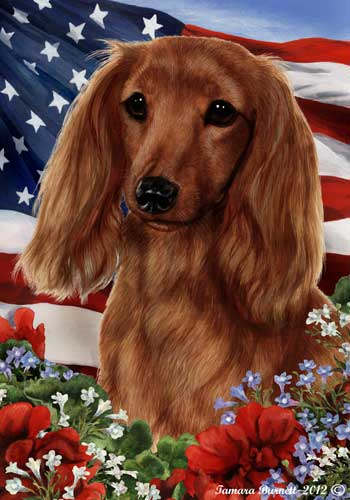 Dachshund House Flag Longhaired