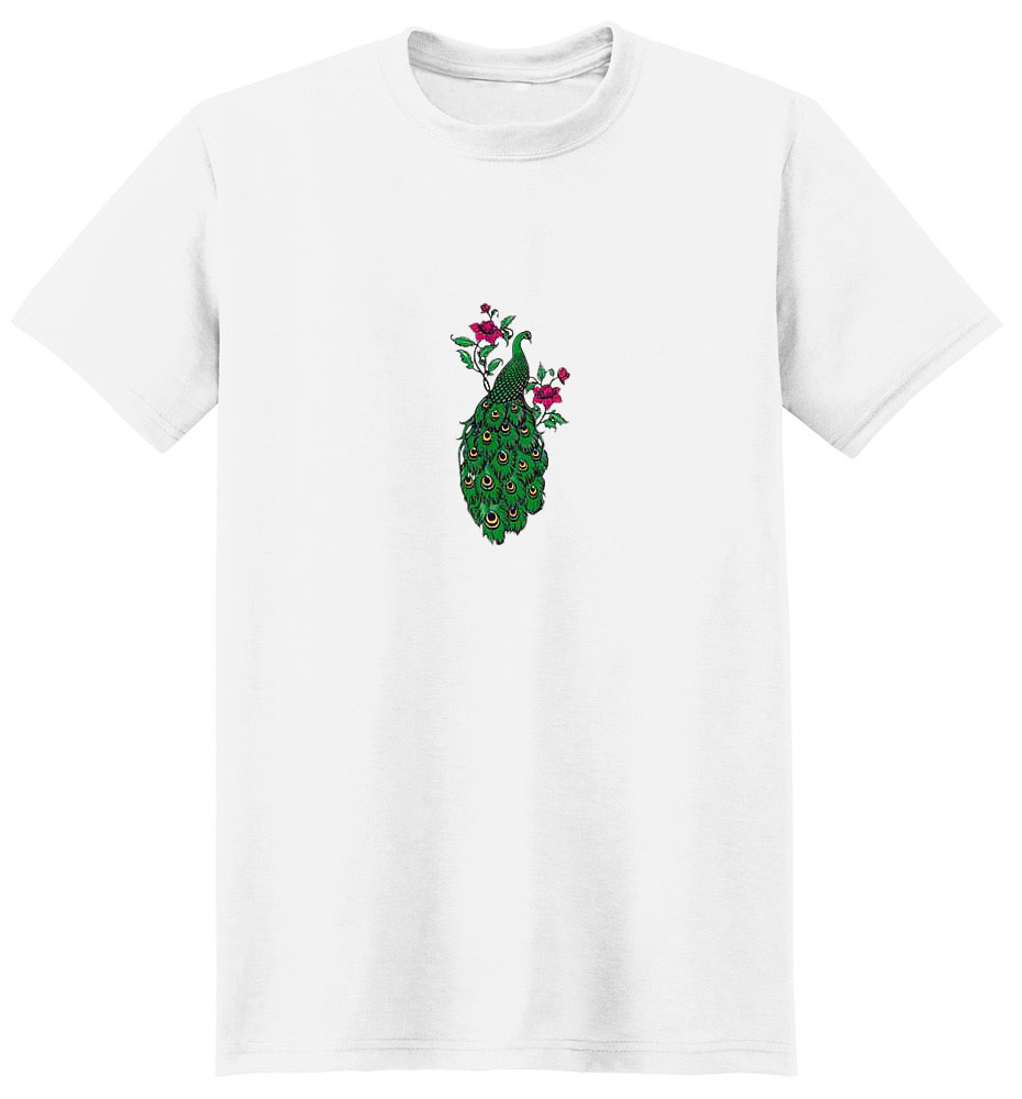 Peacock T-Shirt - Admidst Roses