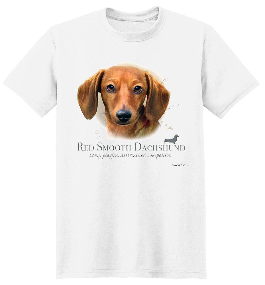 Dachshund T Shirt Red Smooth Howard Robinson