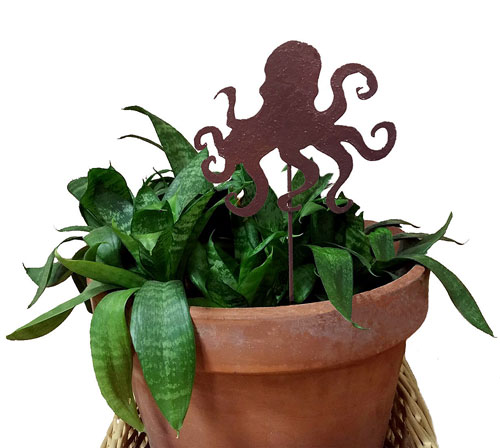 Octopus Plant Stake