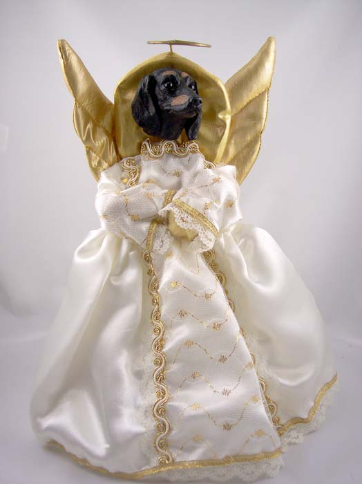 Dachshund Angel Christmas Tree Topper