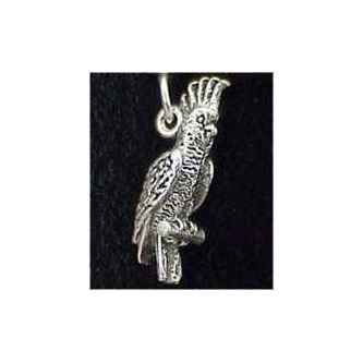 Cockatoo Sterling Silver Charm