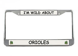 Oriole License Plate Frame