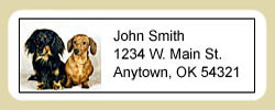 Dachshund Address Labels