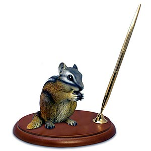 Chipmunk Pen Holder