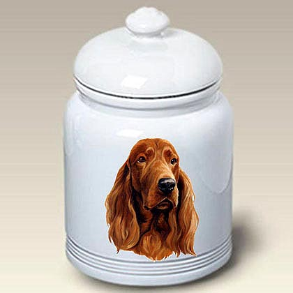 Irish Setter Treat Jar