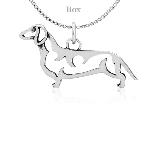 Sterling Silver Dachshund Body Necklace