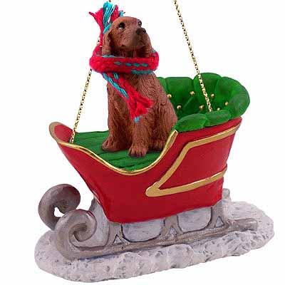 Irish Setter Sleigh Ride Christmas Ornament