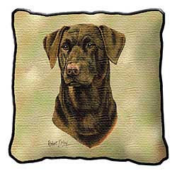 Chocolate Lab Pillow