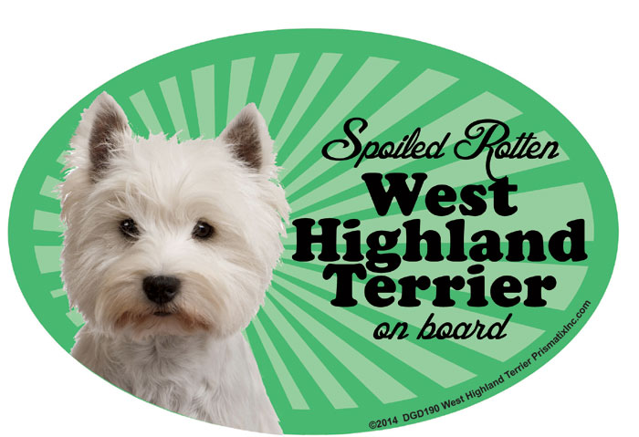 West Highland Terrier Car Magnet - Spoiled Rotten