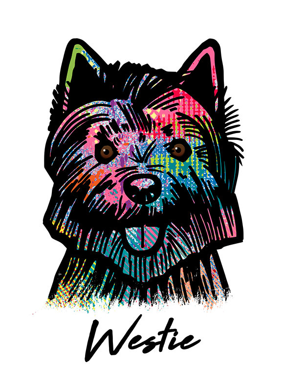 West Highland Terrier T Shirt Colorful Abstract