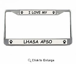 Lhasa Apso License Plate Frame