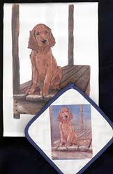 Irish Setter Dish Towel & Potholder