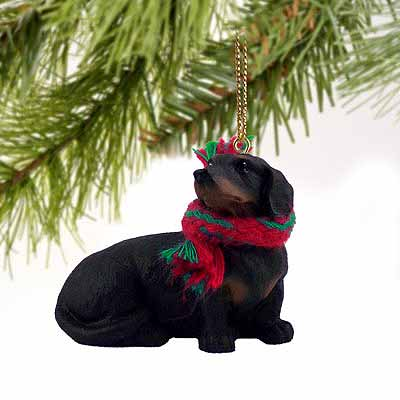 Dachshund Tiny One Christmas Ornament Black