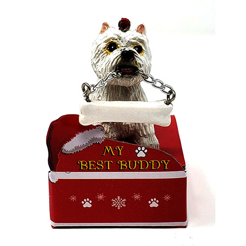 My Best Buddy Westie Christmas Ornament