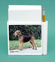 Airedale Terrier Hold-a-Note