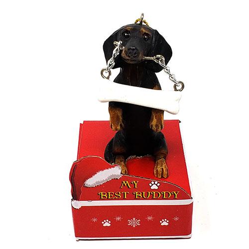 My Best Buddy Dachshund Christmas Ornament