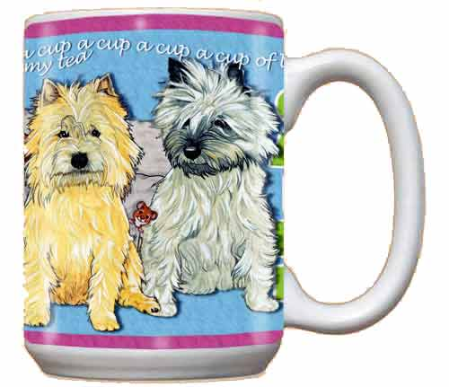 Cairn Terrier Coffee Mug Brown