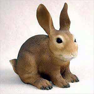 Rabbit Figurine Brown