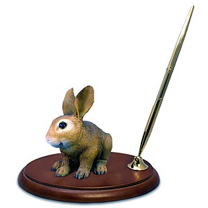 Rabbit Pen Holder (Brown)