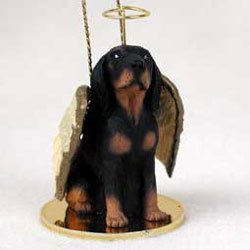 Coonhound Christmas Ornament Angel