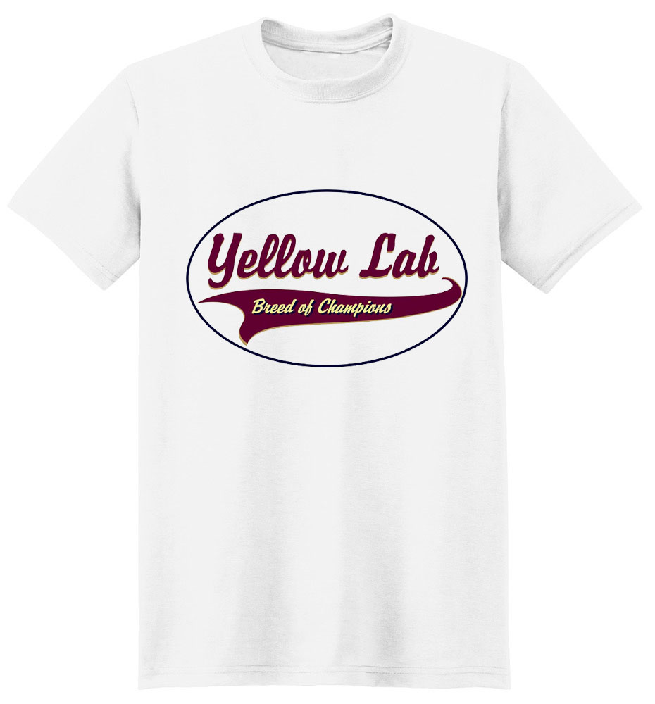 Yellow Lab T-Shirt - Breed of Champions