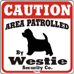 West Highland Terrier Caution Sign
