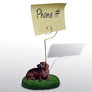 Dachshund Note Holder (Red)