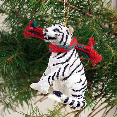 Tiger Tiny One Christmas Ornament White